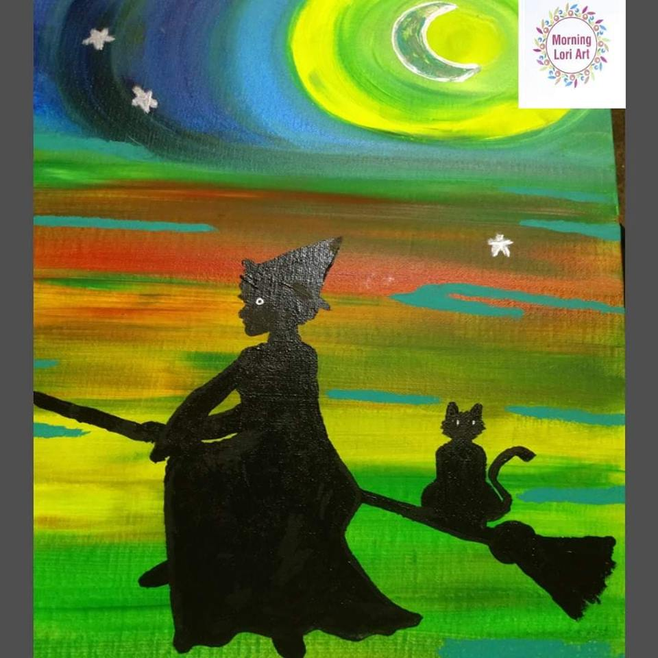 """Witch """"crafting"""" Adult Paint Night   New Moon Witch"""